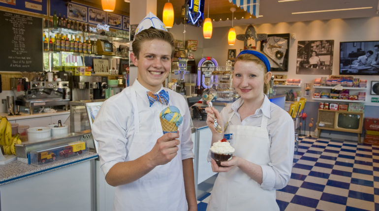 walmart-museum-spark-cafe-soda-fountain-worker